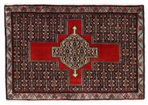Senneh Matto 56X82 Itämainen Käsinsolmittu Tummanpunainen/Tummanruskea (Villa, Persia/Iran)
