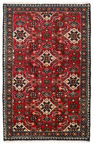 Hosseinabad Matto 69X109 Itämainen Käsinsolmittu Musta/Tummanpunainen (Villa, Persia/Iran)