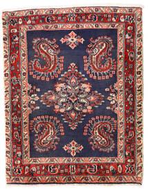 Sarough Matto 75X96 Itämainen Käsinsolmittu Tummanvioletti/Tummanpunainen (Villa, Persia/Iran)