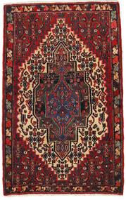 Senneh Matto 65X105 Itämainen Käsinsolmittu Tummanpunainen/Musta (Villa, Persia/Iran)