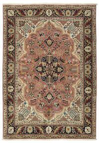 Tabriz Matto 151X215 Itämainen Käsinsolmittu Tummanruskea/Tummanpunainen (Villa, Persia/Iran)