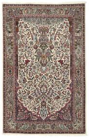 Sarough Matto 130X205 Itämainen Käsinsolmittu Vaaleanharmaa/Tummanruskea (Villa/Silkki, Persia/Iran)