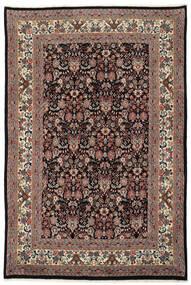 Moud Matto 168X255 Itämainen Käsinsolmittu Musta/Vaaleanruskea (Villa/Silkki, Persia/Iran)