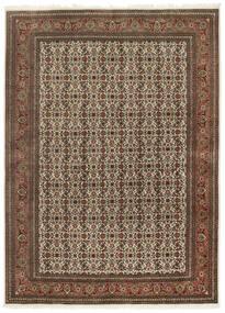 Tabriz 50 Raj Matto 167X230 Itämainen Käsinsolmittu Tummanruskea/Ruskea (Villa/Silkki, Persia/Iran)