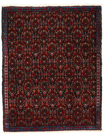 Senneh Matto 76X95 Itämainen Käsinsolmittu Tummanruskea/Tummanpunainen (Villa, Persia/Iran)