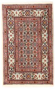 Moud Matto 59X93 Itämainen Käsinsolmittu Beige/Tummanpunainen (Villa/Silkki, Persia/Iran)
