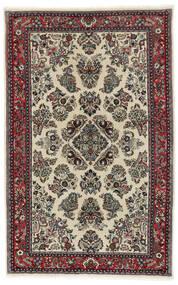 Sarough Sherkat Farsh Matto 130X200 Itämainen Käsinsolmittu Tummanharmaa/Musta (Villa/Silkki, Persia/Iran)