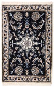 Nain Matto 59X91 Itämainen Käsinsolmittu Musta/Vaaleanharmaa (Villa, Persia/Iran)