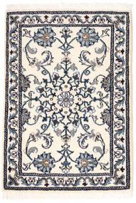Nain Matto 60X84 Itämainen Käsinsolmittu Beige/Vaaleanharmaa (Villa, Persia/Iran)