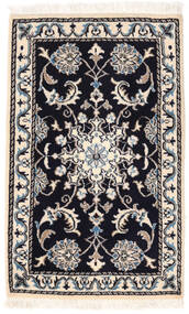 Nain Matto 57X92 Itämainen Käsinsolmittu Beige/Musta (Villa, Persia/Iran)