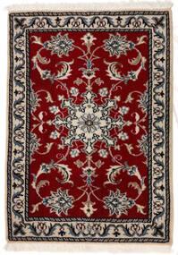 Nain Matto 62X96 Itämainen Käsinsolmittu Tummanpunainen/Vaaleanharmaa (Villa, Persia/Iran)