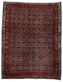 Senneh Matto 77X100 Itämainen Käsinsolmittu Tummanpunainen/Musta (Villa, Persia/Iran)