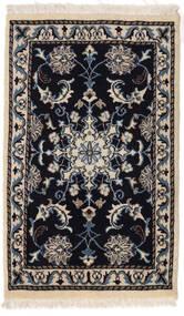 Nain Matto 55X90 Itämainen Käsinsolmittu Musta/Beige/Vaaleanharmaa (Villa, Persia/Iran)