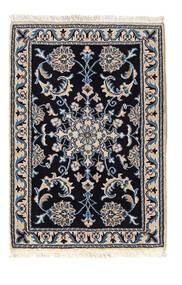 Nain Matto 59X86 Itämainen Käsinsolmittu Musta/Vaaleanharmaa (Villa, Persia/Iran)