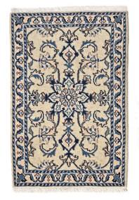 Nain Matto 58X87 Itämainen Käsinsolmittu Beige/Tummanharmaa/Vaaleanharmaa (Villa, Persia/Iran)