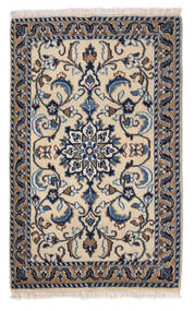 Nain Matto 57X92 Itämainen Käsinsolmittu Vaaleanharmaa/Tummanharmaa (Villa, Persia/Iran)