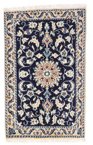 Nain Matto 57X92 Itämainen Käsinsolmittu Vaaleanharmaa/Tummanvioletti/Beige (Villa, Persia/Iran)