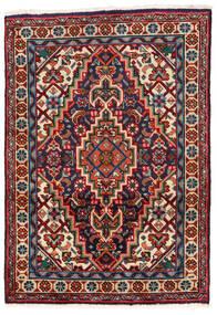 Tabriz Matto 62X88 Itämainen Käsinsolmittu Tummanpunainen/Musta (Villa, Persia/Iran)