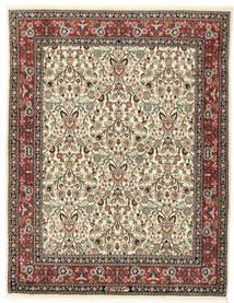 Moud Sherkat Farsh Matto 150X195 Itämainen Käsinsolmittu Beige/Tummanharmaa (Villa/Silkki, Persia/Iran)