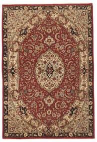 Ghom Kork/Silkki Matto 141X204 Itämainen Käsinsolmittu Tummanruskea/Ruskea (Villa/Silkki, Persia/Iran)