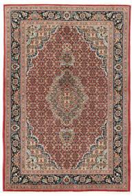Moud Sherkat Farsh Matto 140X208 Itämainen Käsinsolmittu Tummanpunainen/Tummanruskea (Villa/Silkki, Persia/Iran)