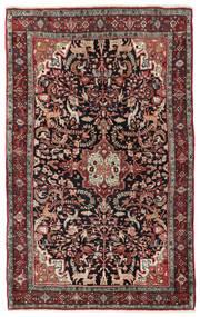 Bidjar Matto 133X208 Itämainen Käsinsolmittu Tummanruskea/Tummanpunainen (Villa, Persia/Iran)