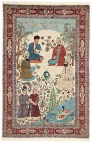 Sarough Matto 143X213 Itämainen Käsinsolmittu Beige/Tummanruskea (Villa/Silkki, Persia/Iran)