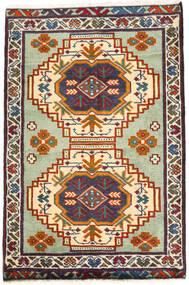 Turkaman Matto 59X89 Itämainen Käsinsolmittu Tummanharmaa/Beige (Villa, Persia/Iran)
