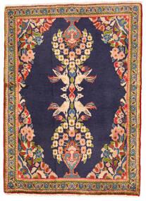 Sarough Matto 65X90 Itämainen Käsinsolmittu Tummanvioletti/Tummanbeige (Villa, Persia/Iran)
