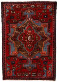Nahavand Matto 68X100 Itämainen Käsinsolmittu Tummanpunainen/Tummanruskea (Villa, Persia/Iran)