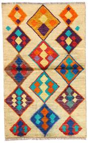 Moroccan Berber - Afghanistan Matto 85X139 Moderni Käsinsolmittu Vaaleanruskea/Tummanbeige (Villa, Afganistan)