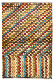 Moroccan Berber - Afghanistan Matto 97X141 Moderni Käsinsolmittu Tummanruskea/Vaaleanruskea (Villa, Afganistan)