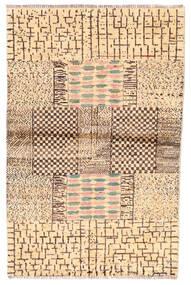 Moroccan Berber - Afghanistan Matto 100X192 Moderni Käsinsolmittu Beige/Ruskea (Villa, Afganistan)