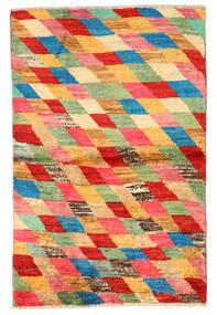 Moroccan Berber - Afghanistan Matto 91X142 Moderni Käsinsolmittu Punainen/Vaaleanvihreä (Villa, Afganistan)