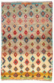 Moroccan Berber - Afghanistan Matto 92X139 Moderni Käsinsolmittu Vaaleanruskea/Tummanbeige (Villa, Afganistan)