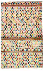 Moroccan Berber - Afghanistan Matto 88X141 Moderni Käsinsolmittu Beige/Tummanbeige (Villa, Afganistan)