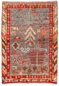 Moroccan Berber - Afghanistan Matto 96X135 Moderni Käsinsolmittu Tummanruskea/Ruoste (Villa, Afganistan)