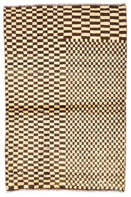 Moroccan Berber - Afghanistan Matto 91X138 Moderni Käsinsolmittu Beige/Tummanruskea (Villa, Afganistan)