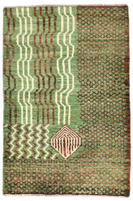 Moroccan Berber - Afghanistan Matto 79X118 Moderni Käsinsolmittu Vaaleanvihreä/Ruskea (Villa, Afganistan)