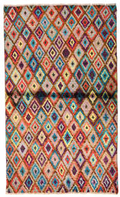 Moroccan Berber - Afghanistan Matto 85X142 Moderni Käsinsolmittu Tummanruskea/Ruoste (Villa, Afganistan)