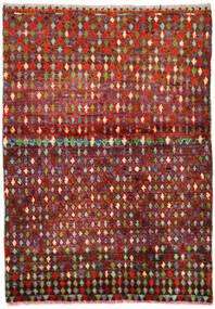 Moroccan Berber - Afghanistan Matto 90X130 Moderni Käsinsolmittu Tummanpunainen/Ruoste (Villa, Afganistan)