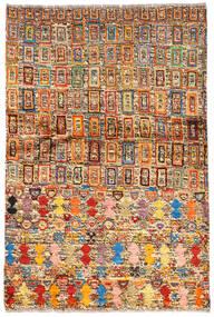 Moroccan Berber - Afghanistan Matto 94X139 Moderni Käsinsolmittu Tummanruskea/Tummanpunainen (Villa, Afganistan)