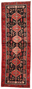 Hamadan Matto 104X306 Itämainen Käsinsolmittu Käytävämatto Tummanpunainen/Ruoste (Villa, Persia/Iran)