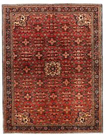 Hosseinabad Matto 149X218 Itämainen Käsinsolmittu Tummanruskea/Tummanpunainen (Villa, Persia/Iran)