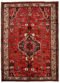 Hamadan Matto 148X208 Itämainen Käsinsolmittu Ruoste/Tummanpunainen (Villa, Persia/Iran)