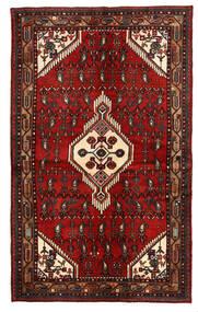 Hamadan Matto 135X221 Itämainen Käsinsolmittu Tummanpunainen/Tummanruskea (Villa, Persia/Iran)