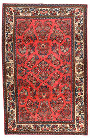Rudbar Matto 129X198 Itämainen Käsinsolmittu Tummanruskea/Tummanpunainen (Villa, Persia/Iran)