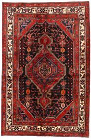 Hamadan Matto 137X209 Itämainen Käsinsolmittu Tummanpunainen/Ruoste (Villa, Persia/Iran)