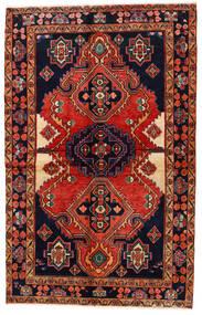 Koliai Matto 140X223 Itämainen Käsinsolmittu Musta/Tummanpunainen (Villa, Persia/Iran)
