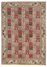 Moud Matto 171X244 Itämainen Käsinsolmittu Vaaleanruskea/Tummanruskea (Villa/Silkki, Persia/Iran)